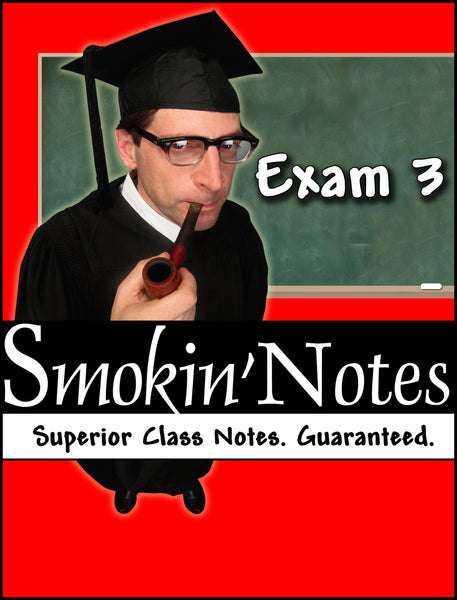 APK2105 Exam 3 Smokin'Notes