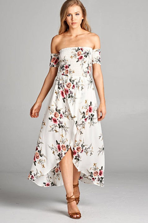 Avery Off-Shoulder Floral Midi