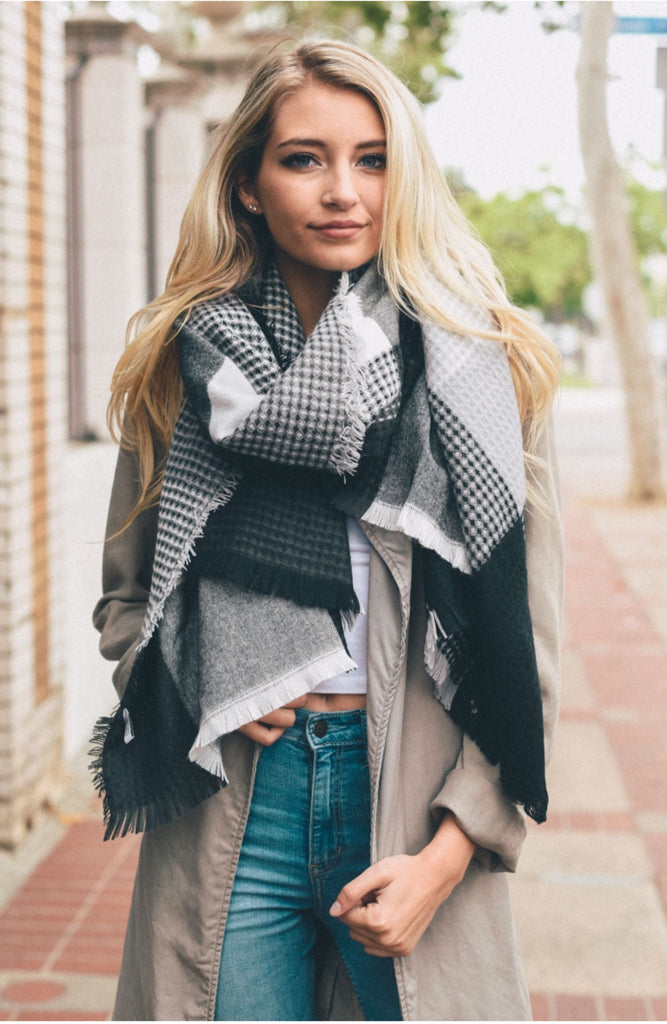Haven Plaid Blanket Scarf