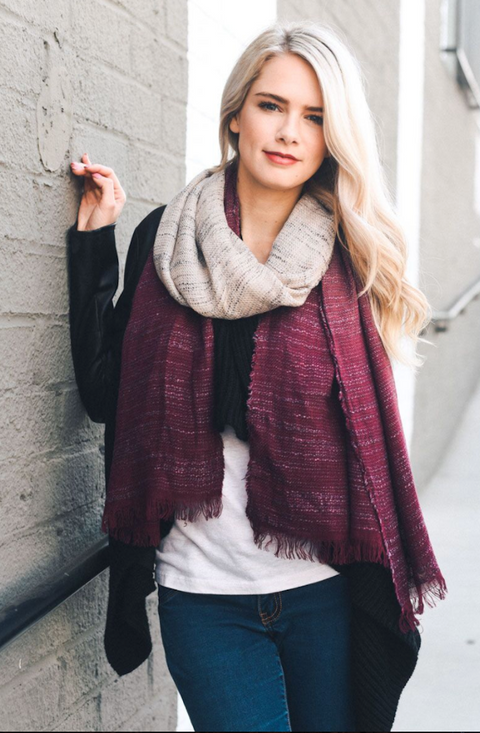 Ryder Two-Toned Ombre Scarf