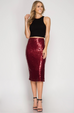 Deck The Halls Midi Skirt