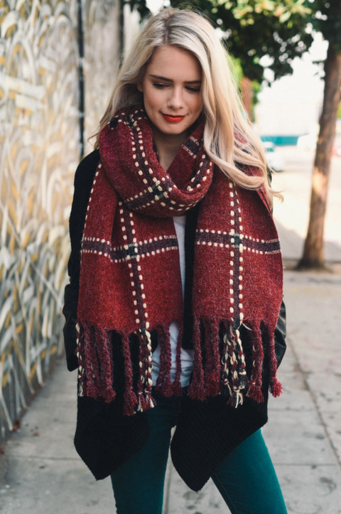Riley Plaid Blanket Scarf