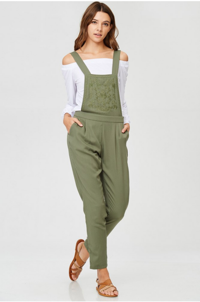 Nora Embroidered Overalls