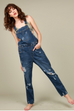 Jana Distressed Overalls