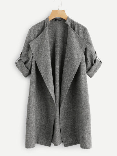 Payton Draped-Collar Coat