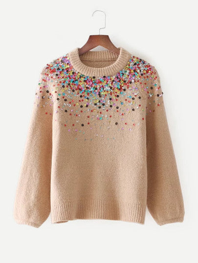 Guliana Sequined Sweater