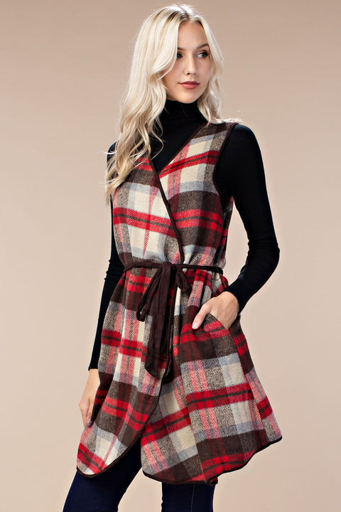 Hattie Plaid Vest