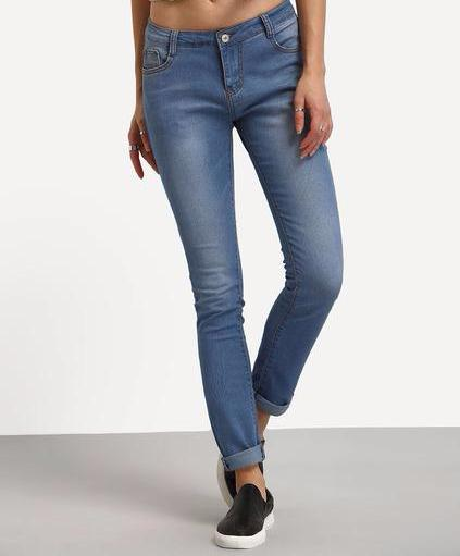 Jenna Low-Waist Denim Pants