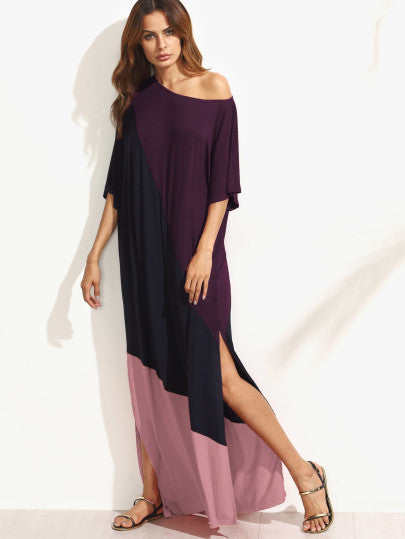 Rayven Asymmetrical Off-Shoulder Maxi