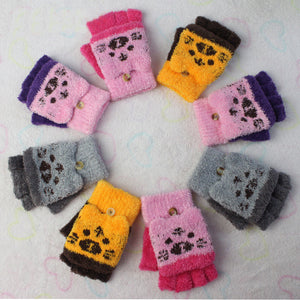 Fingerless Kitten Mittens