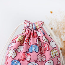 Pink Elephant Drawstring Bag