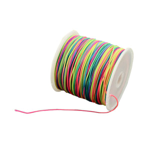 1M Rainbow Braided Nylon Thread