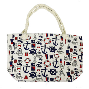 Nautical Canvas Beach Bag