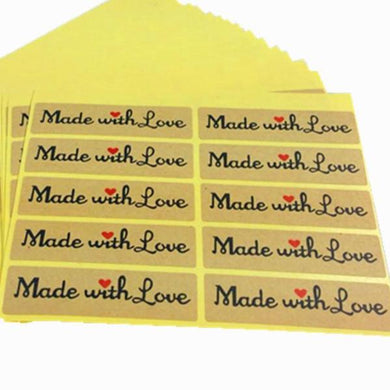 50pc Made with Love Stickers