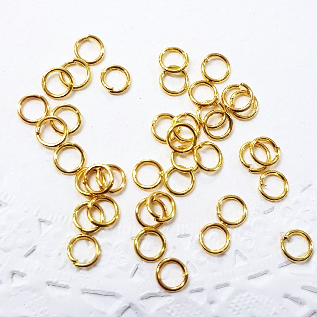 100pc 5mm Gold Jump Rings