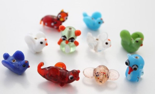 10pc Assorted Funny Animal/Shape Beads