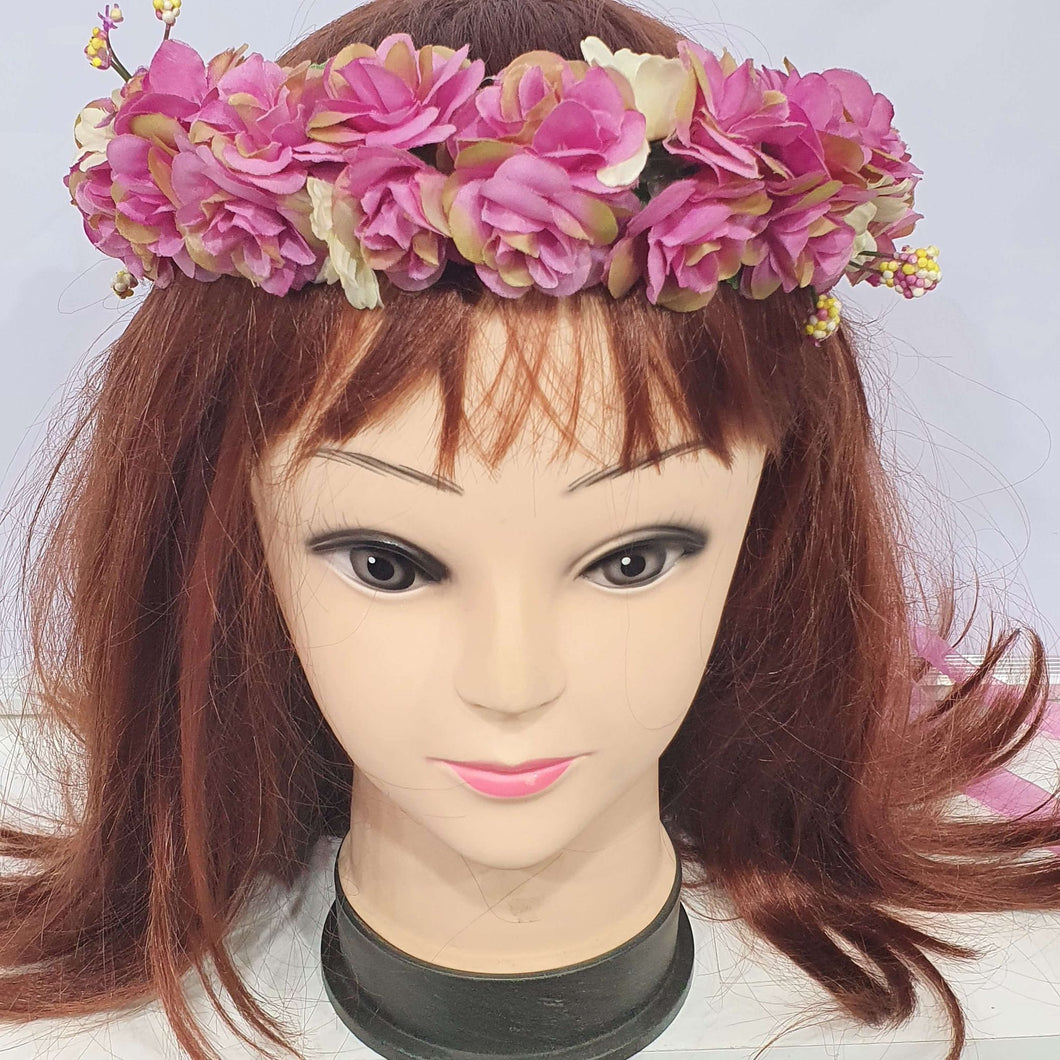 Purple Floral Hair Crown