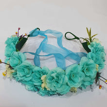 Blue Floral Hair Crown