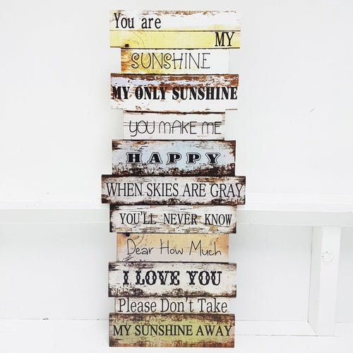 You are my sunshine Wooden Wall Art