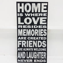 Home is Where Love Resides Wall Art Black