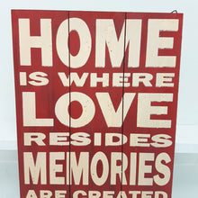 Home is Where Love Resides Wall Art Red