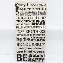 Always Say I Love You Wooden Wall Art Sign