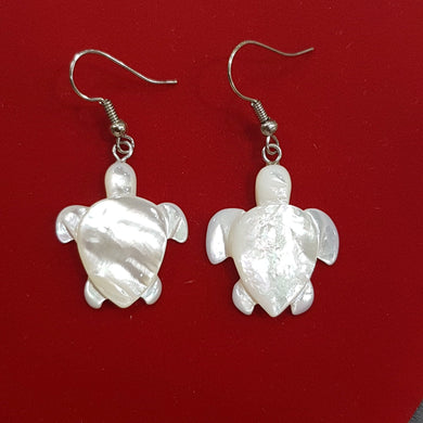 Mother of Pearl Turtle Earrings