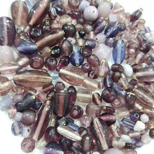 100g Purple Lampwork Bead Mix