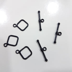5 Sets Black Toggle Clasps