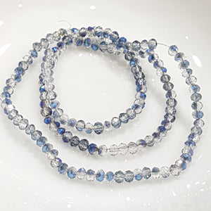 Dual Coloured Blue Crystal Rondelles