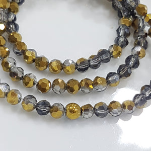 Gold Dual Colour Crystal Rondelles