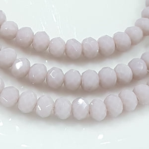 Lilac Crystal Rondelle Beads