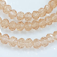 Peach Crystal Rondelle Beads