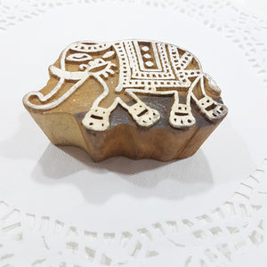 Elephant Indian Block Stamp