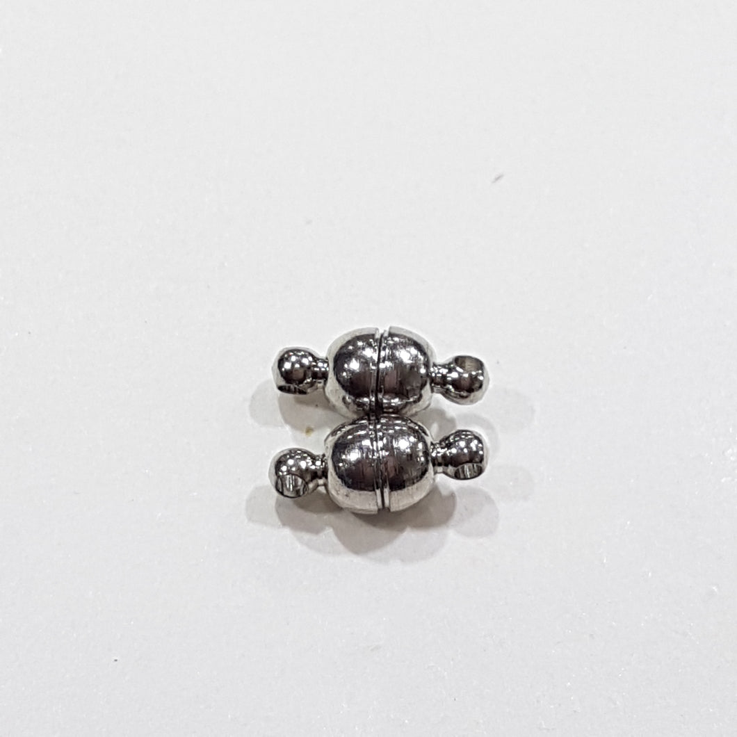 2 Sets Dark Silver Magnetic Clasps