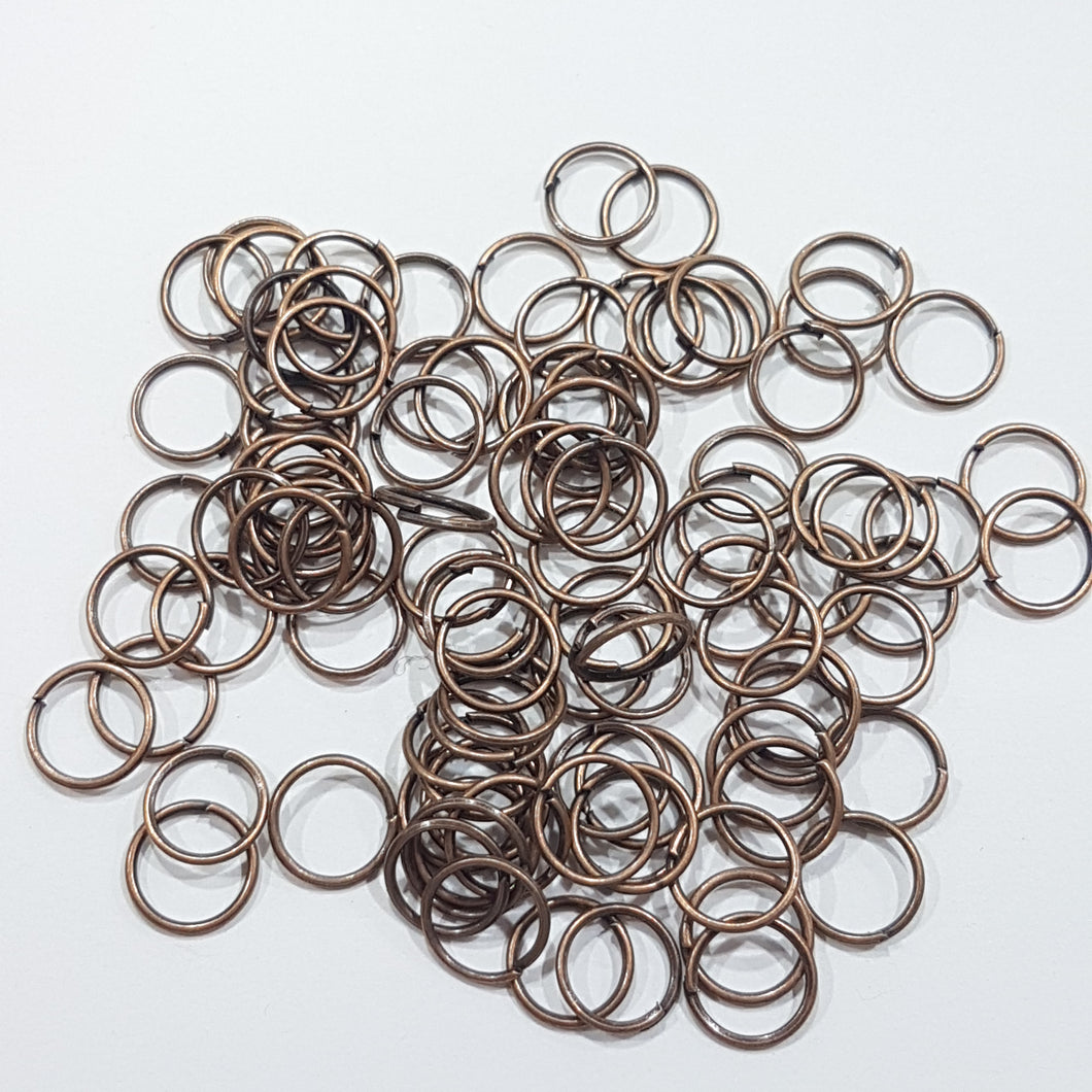 100pc 8mm Copper Jump Rings