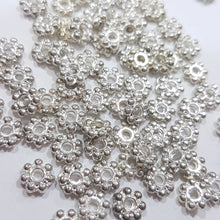 100pc 6mm Silver Daisy Spacers