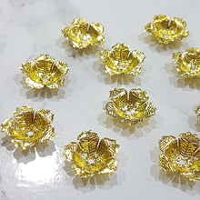10pc Large Flower Bead Caps