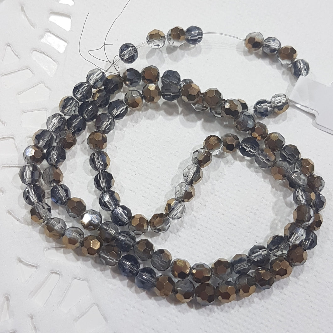 Bronze Dual Round Crystal Beads