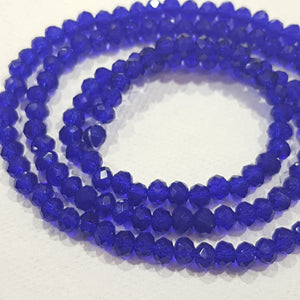 Cobalt Blue Crystal Rondelle Beads