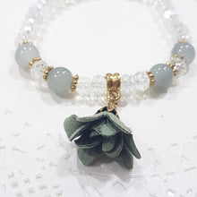Crystal Glass Beaded Flower Bracelet