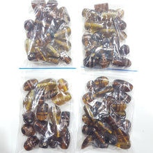 100g Golden Brown Lampwork Glass Beads
