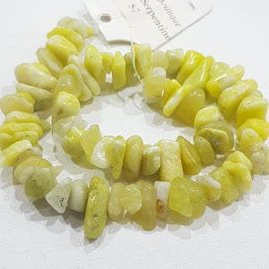 Large Lemon Serpentine Chip Bead Strand