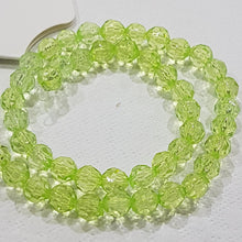 50pc Green Acrylic Faceted Beads