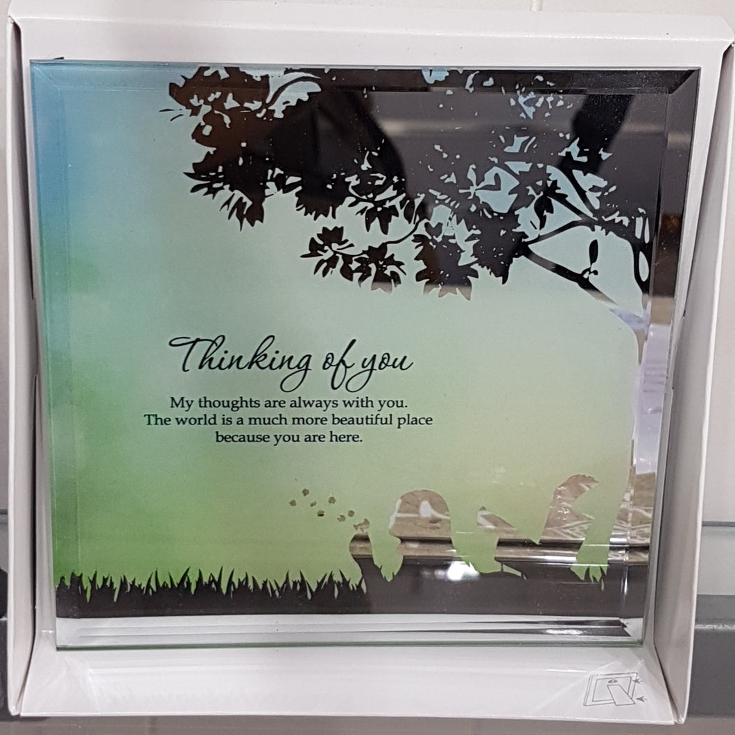 Thinking of You Mirror Plaque