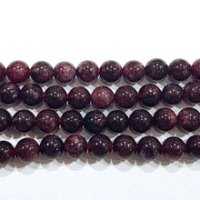 10mm Garnet Gemstone Beads