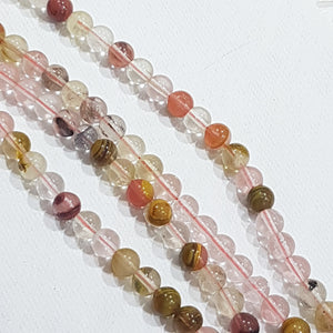 6mm Tigerskin Glass Beads