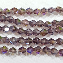 6mm Purple AB Glass Bicones