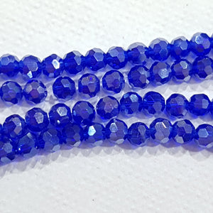 Blue Round Crystal Beads