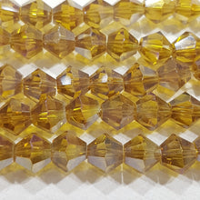 8mm Golden AB Glass Bicones